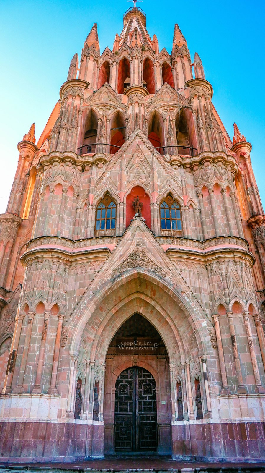 church San Miguel pink Mexico