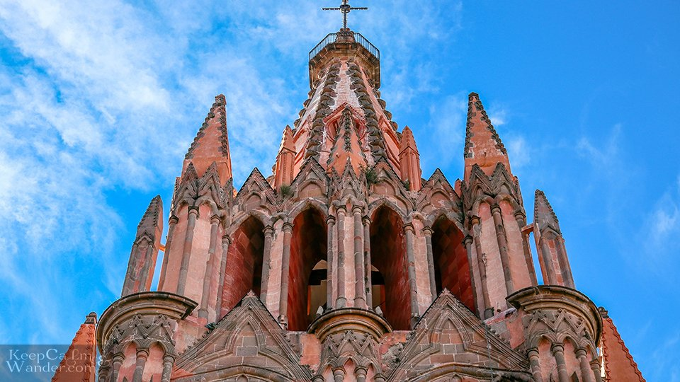 pink cathedral San Miguel Mexico