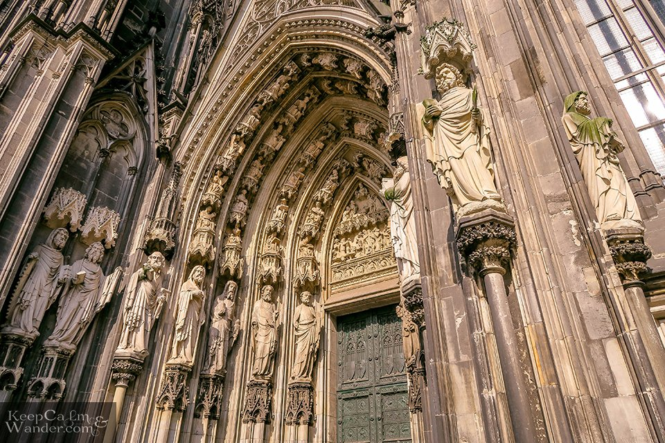 The religious statues at the entrance door Germany Travel Blog