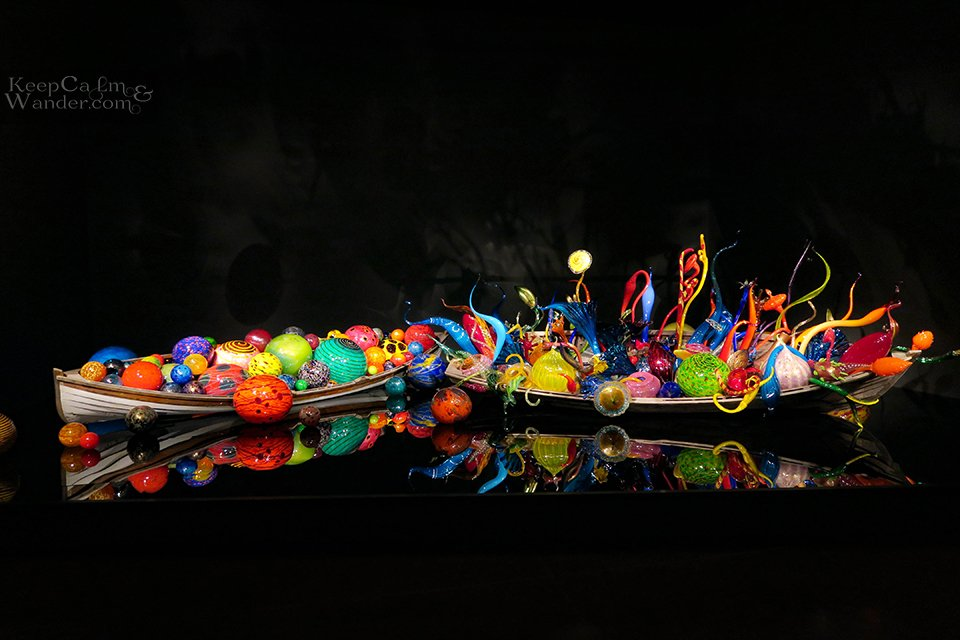 Ikebana and Float Boats - Chihuly Garden and Glass Seattle.
