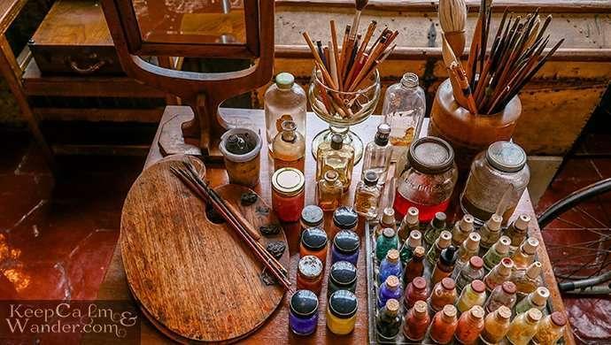 frida's paintbrushes