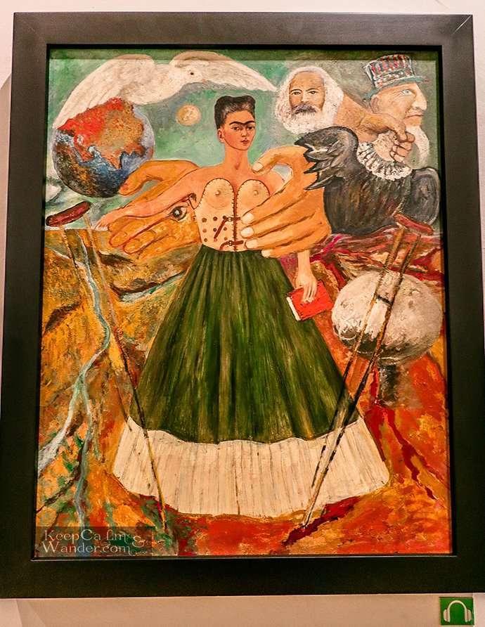 Frida's self portrait Casa Azul Coyoacan