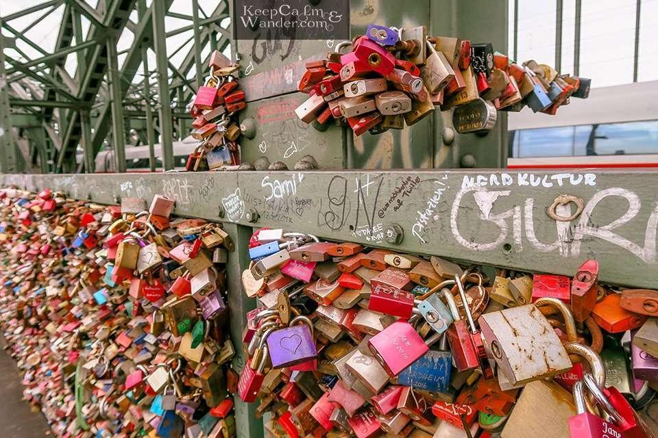 Locks Bridge in Cologne (Germany).