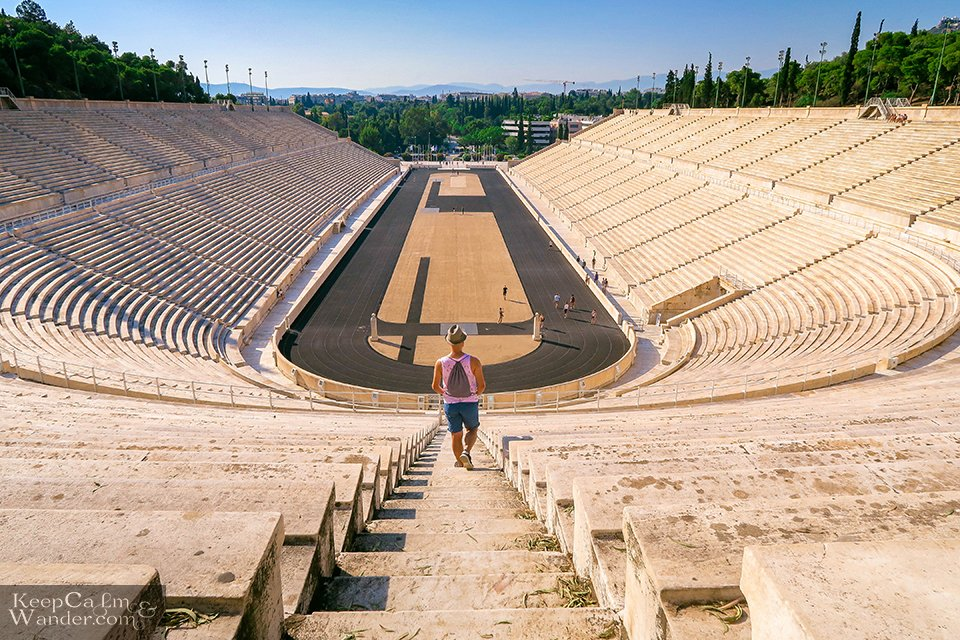 Panathenaic Stadium Olympics in Athens, Greece.