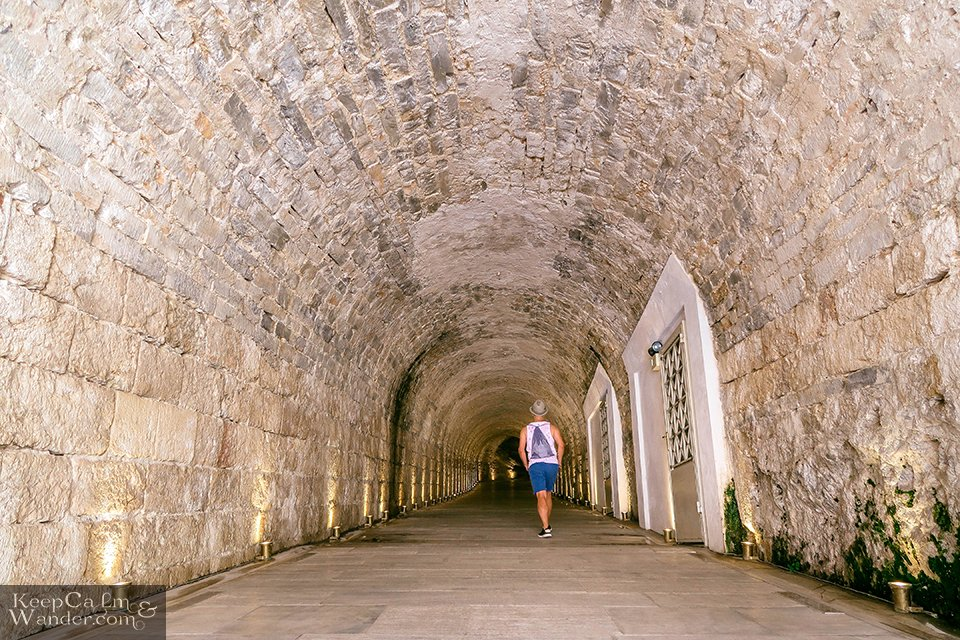 The tunnel going to the museum. Greece Athens