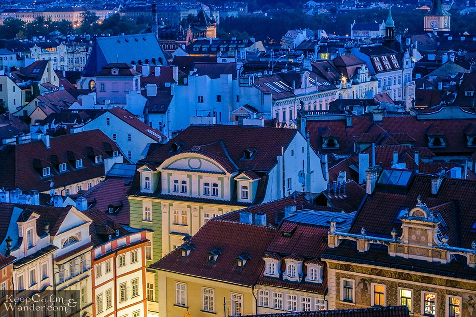 Praha views from the top skyline