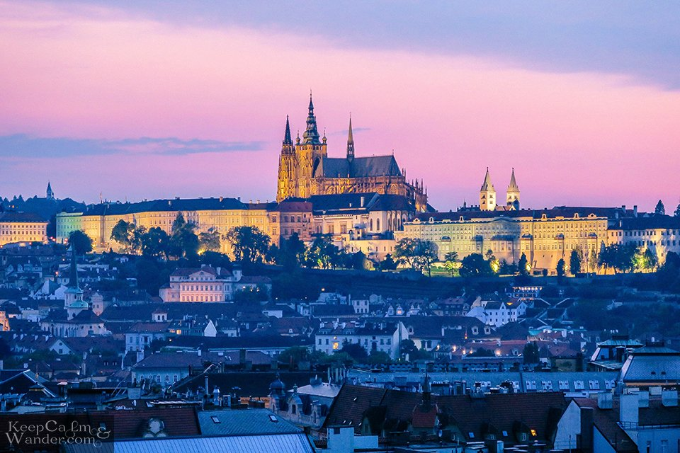 When illuminated, Prague's Castle is a kingdom on its own. Travel Blog