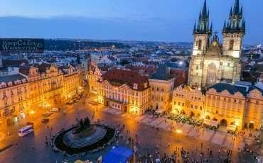 Prague Old Town Tower Night Views 5