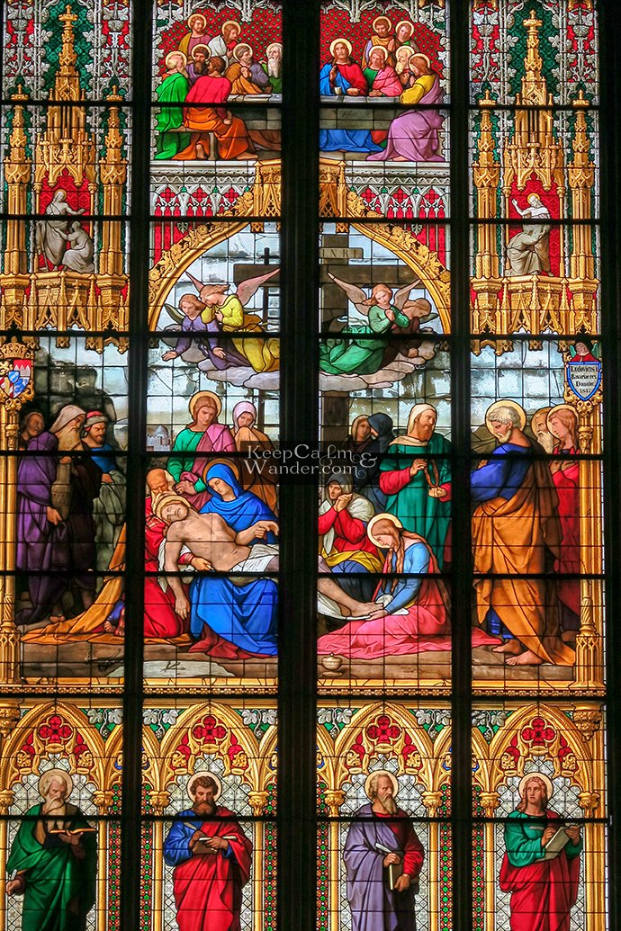 Stained Glass Window of the Lamentation (Cologne, Cathedral).