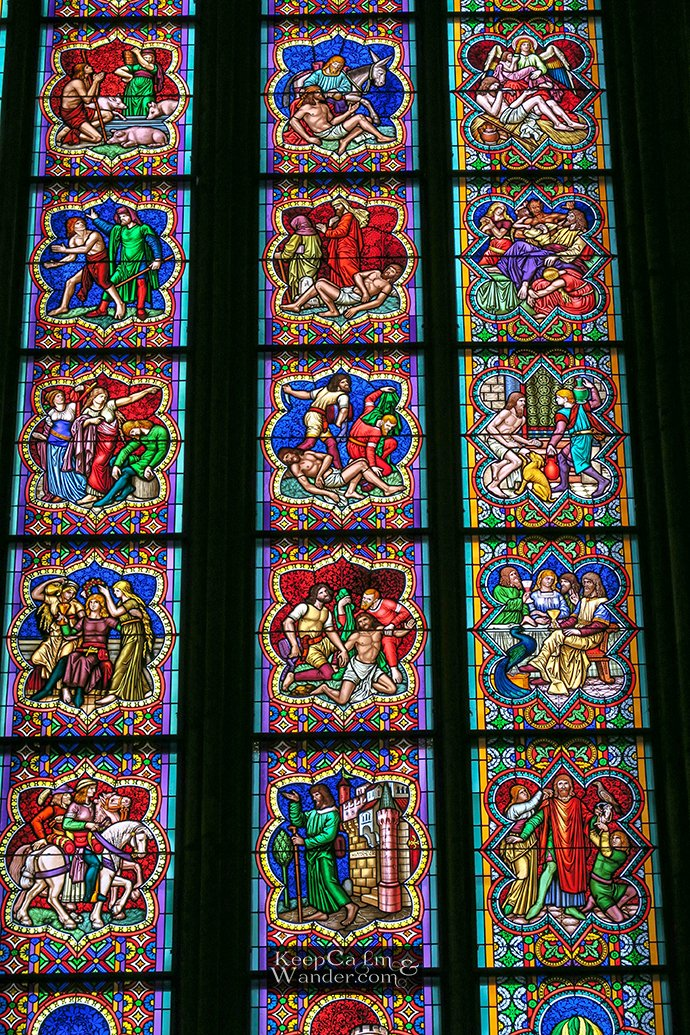 Life of Christ Stain Glasses Window