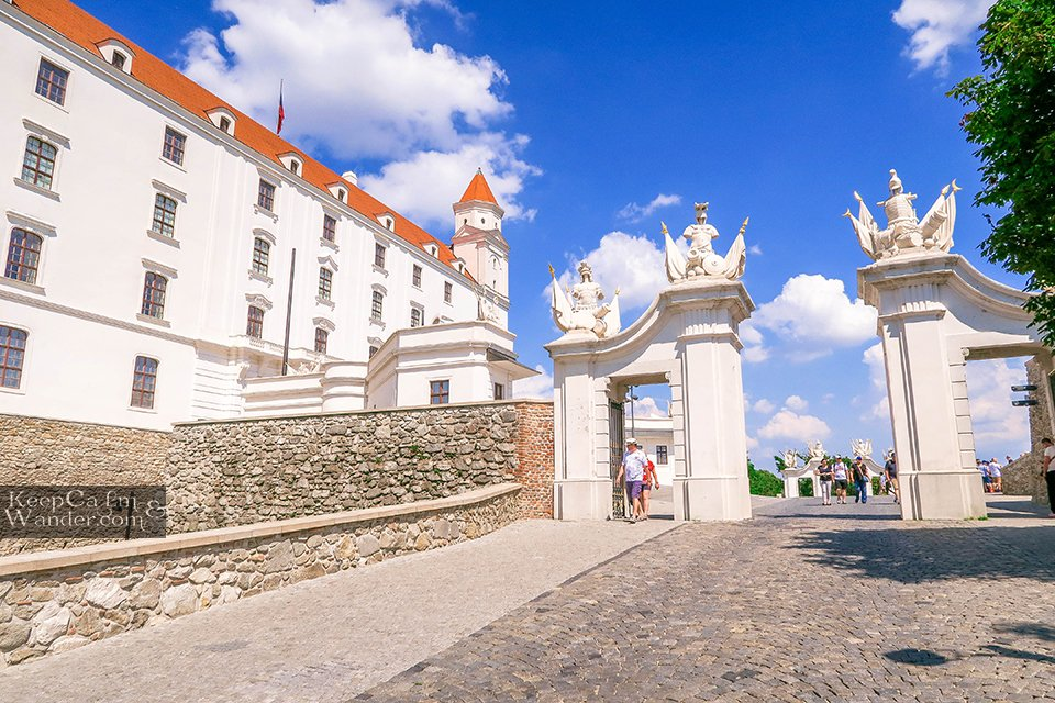 Bratislava Castle - The Castle on the Hill Overlooking the Old Town and Danube River