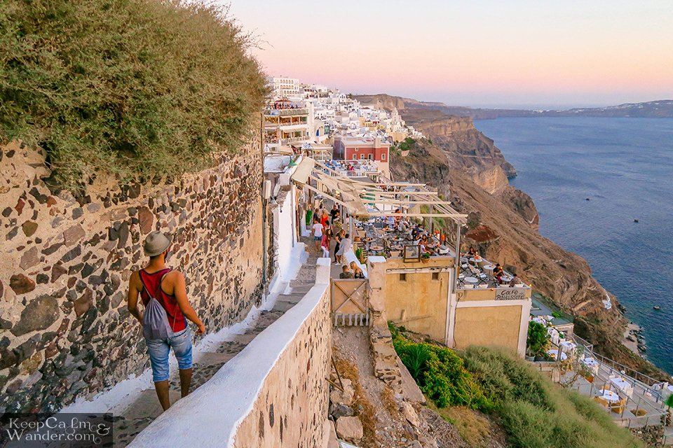 Santorini Hostel Hotel Fira Oia Travel Budget Backpacking
