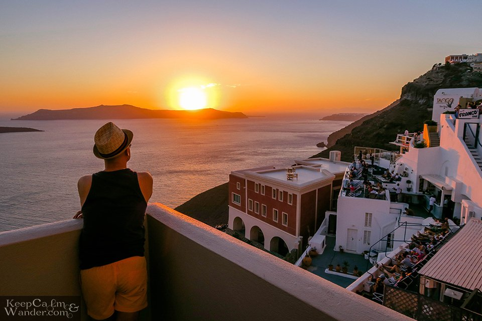 Santorini Sunset Greece Photo Travel Blog