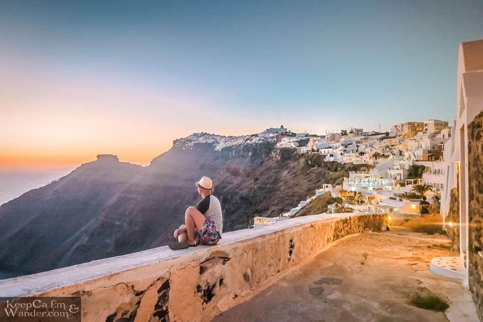 Where to watch Santorini sunset