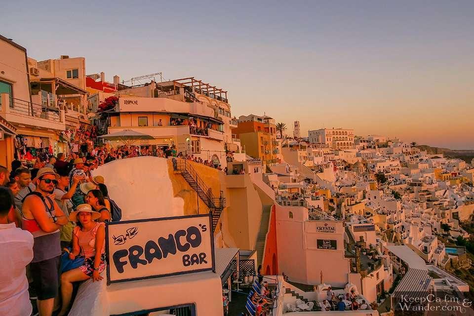 Where to watch the sunset Santorini