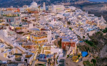 Fira Santorini at Night Greece 1