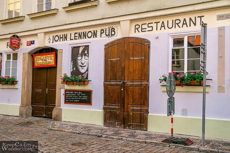 John Lennon Bar in Praha  (Czech Republic).