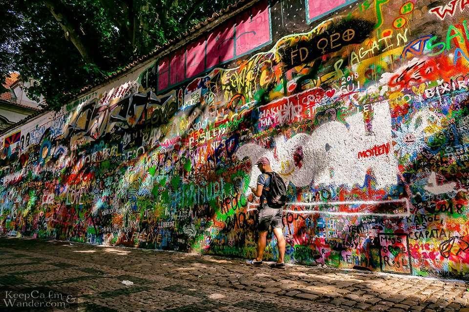 John Lennon Wall in Praha (Czech Republic).