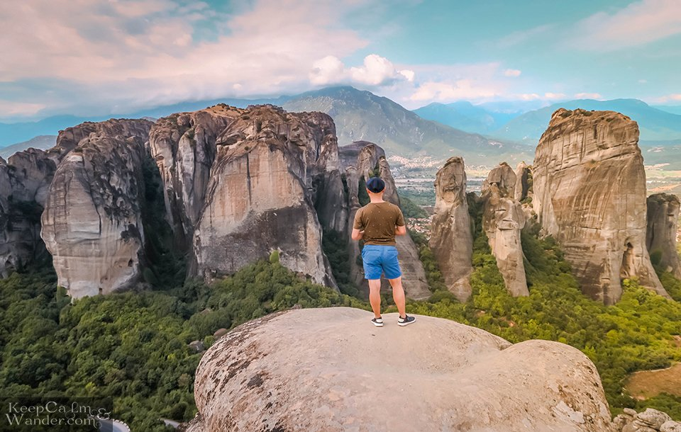 The viewing platform in Meteora (Greece).