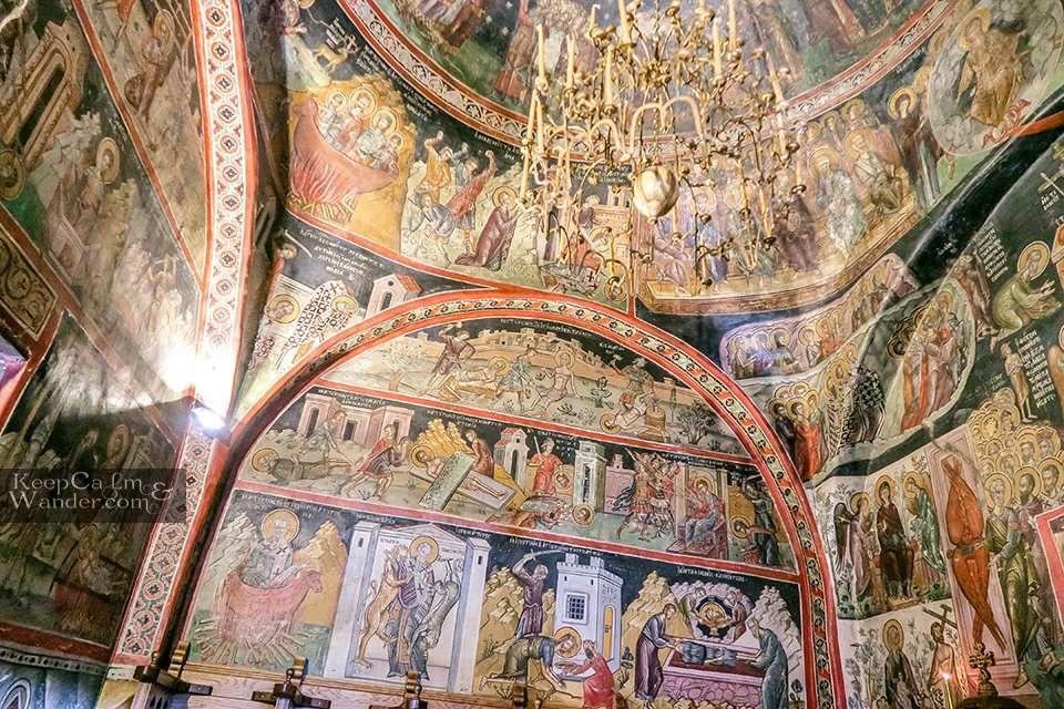 Paintings Greek Orthodox Church Meteora Greece Travel Blog