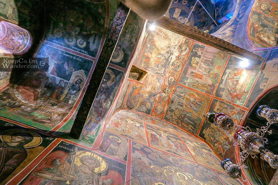 Inside Roussanou Monastery  (Meteora, Greece).