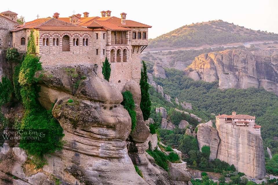 Varlaam monastery and Roussanou Meteora, Greece