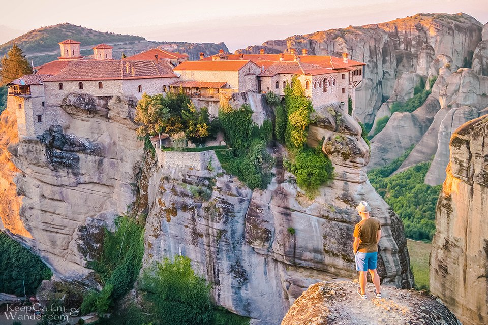 Sunrise at Varlaam Monsatery (Meteora, Greece).