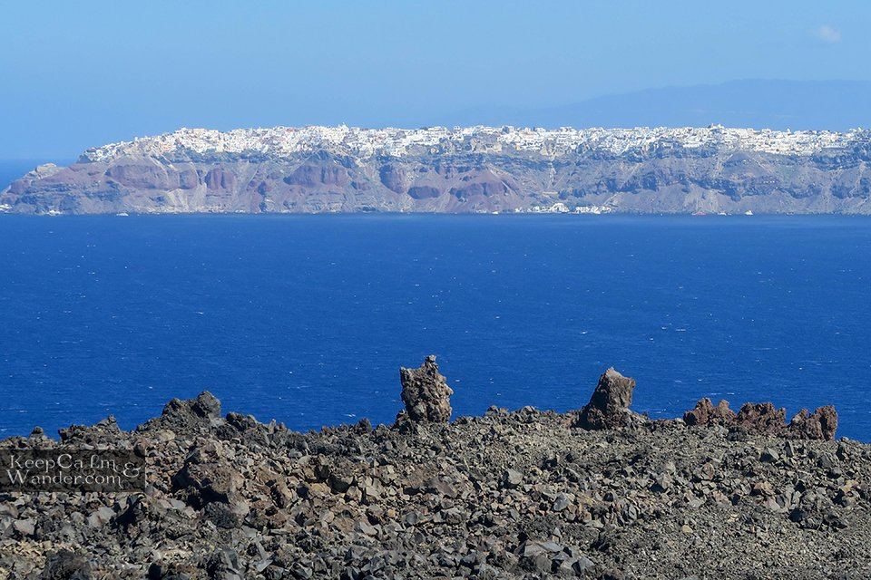A Day Tour of Island Hopping in Santorini (Greece).