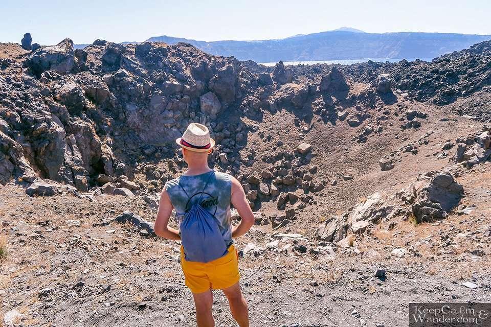 Crater Nea Kameni – A Volcanic Island Across Santorini Greece Travel Blog