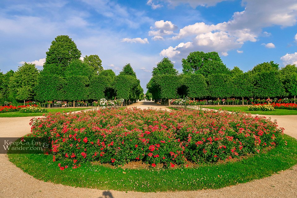 Garden Schloss Vienna Austria