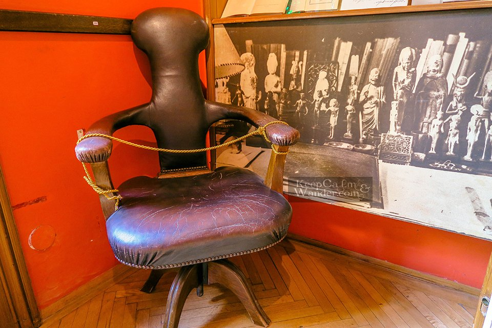 Inside the house of Sigmund Freud (Museum) in Vienna.