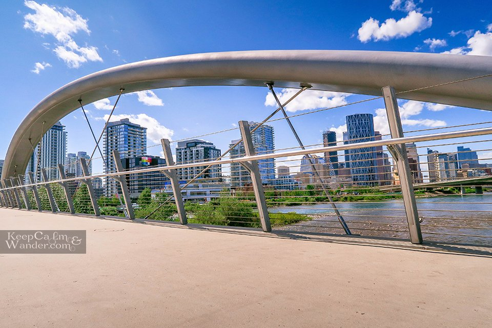 King George Bridge Calgary Skyline Travel Alberta Canada