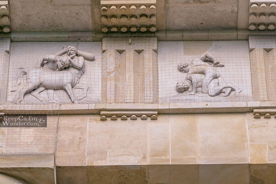 doric columns carved statues Brandenburg