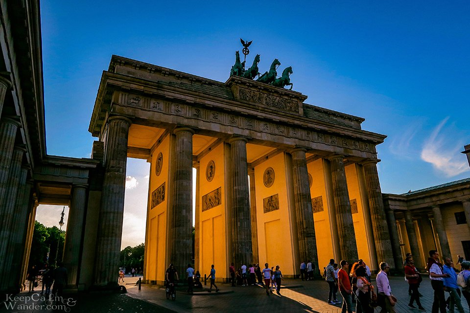 Brandenburg gate morning Berlin