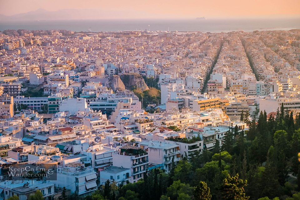 Athens skyline view travel blog things to do