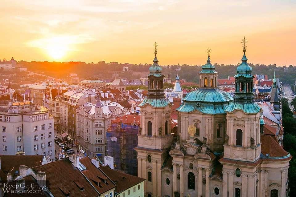 Sunset Prague Old Tower