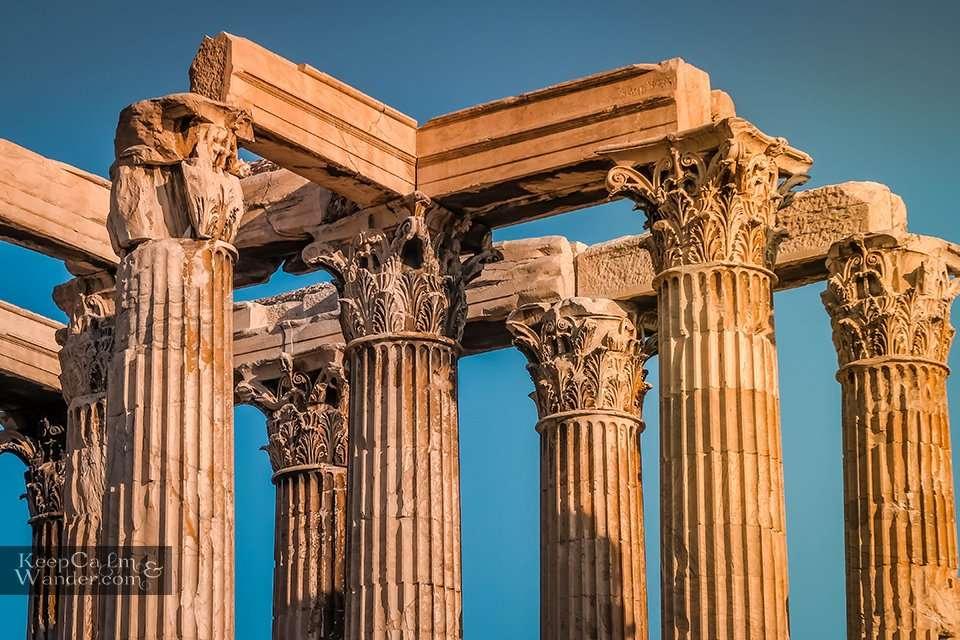 Doric Corinthian columns