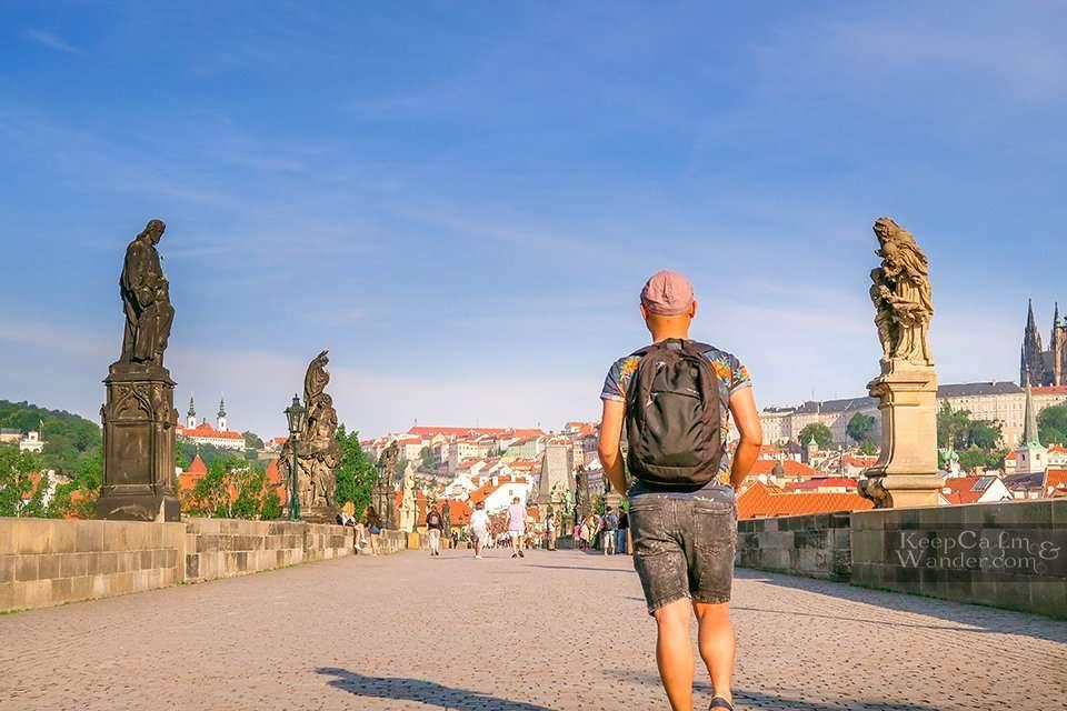 Charles Bridge in Prague Morning Sunrise