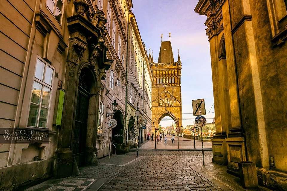 An Early Morning Stroll at Charles Bridge in Prague (Czech Republic).