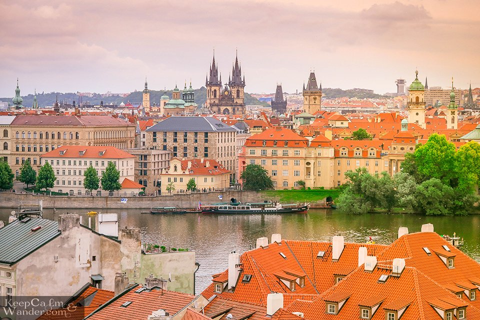 The Views from the Lesser Town Bridge Tower in Prague
