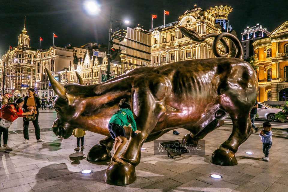 Shanghai Charging Bull Sculpture