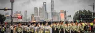 Policemen in Shanghai China