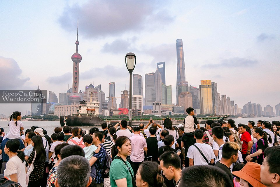 The Bund in Shanghai Looks Like on October Holiday in China