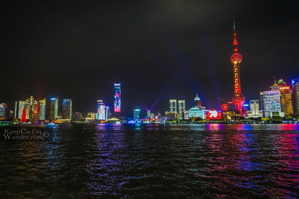 Shanghai lights and sounds show