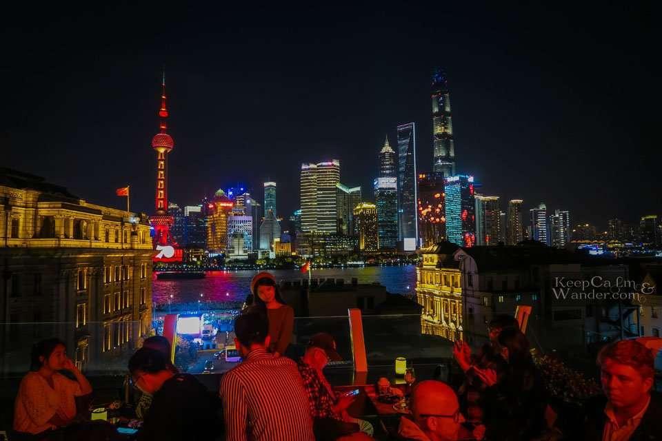 Captain Hostel rooftop bar restaurant Shanghai china