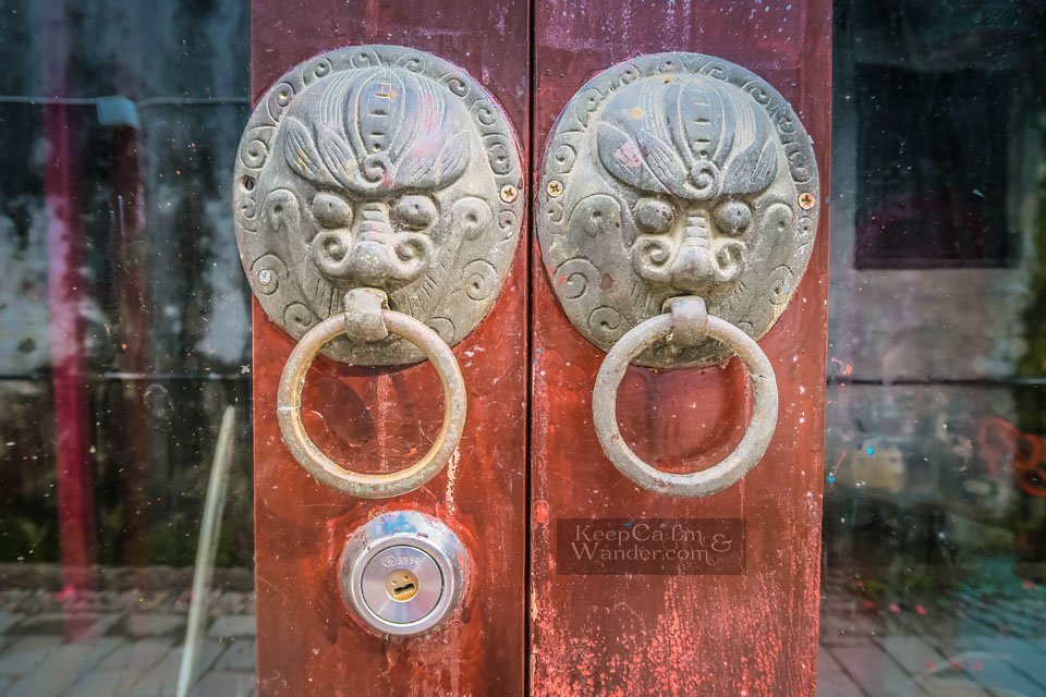 Door Handles in Chinese Doors