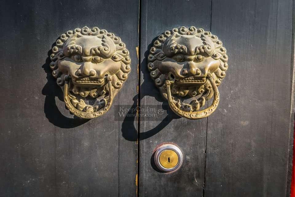 Door Handles in Chinese Doors China Suzhou Travel Blog