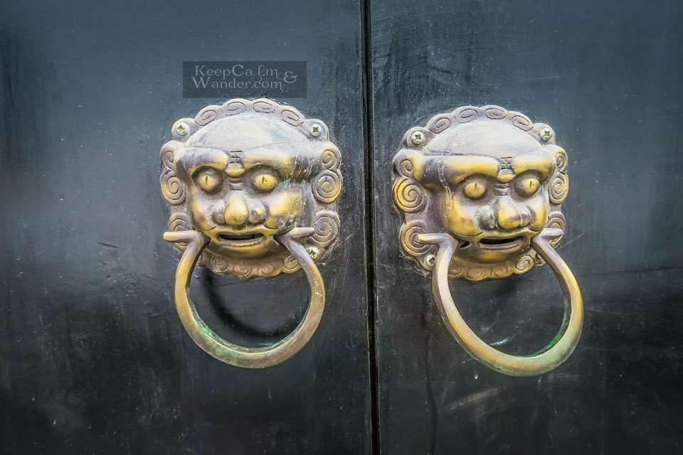 Door Handles in Chinese Doors