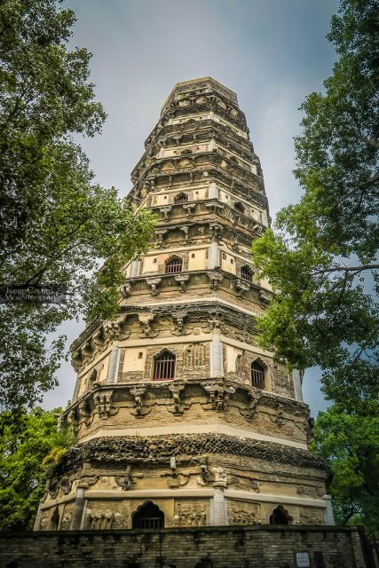 The Yunyansi Pagoda on Tiger Hill in Suzhou is China's Leaning Tower